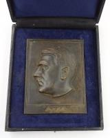 Bronze cased Adolf Hitler Plaque